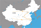 Carte du circuit Découverte de la Chine