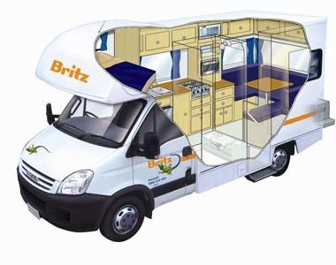 Camping-car 4 couchettes