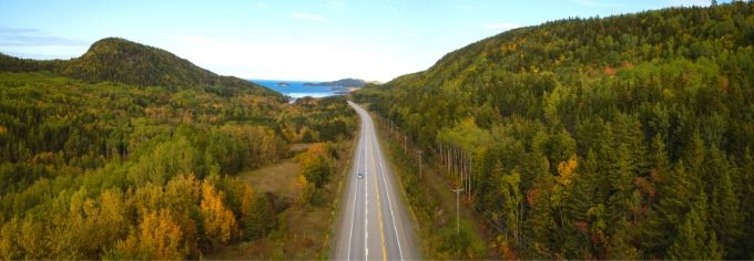 road trip est canadien route panoramique