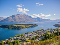 town of Queenstown and landscape